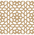 seamless arabic geometric ornament in golden and vector image vector image