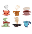 Set Of Hand Drawn Cups vector image