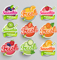 Set sticers smoothie vector image vector image