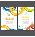 Sport template design strips of colored rings and vector image vector image