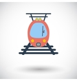 Suburban electric train vector image vector image