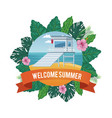 summer and beach cartoon vector image vector image