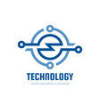 technology - business logo template concept vector image