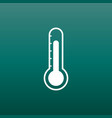 thermometer icon goal flat on green background vector image vector image
