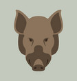 wild boar flat style vector image vector image