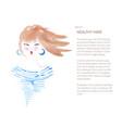 watercolor beautiful woman vector image