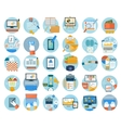 Business office and marketing items icons vector image