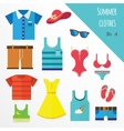 set of clothes for men and women Fashion icons vector image