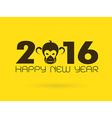 2016 Monkey vector image