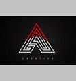 a letter red and black design logo letter a icon vector image