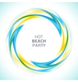 Abstract blue and yellow swirl circle bright vector image vector image