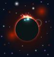 Abstract circular cosmos galaxy design vector image vector image