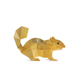 Abstract squirrel vector image vector image