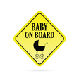 baby on board carriage vector image vector image