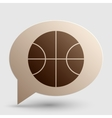 Basketball ball sign Brown gradient vector image vector image