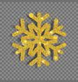 big shiny christmas snowflake vector image vector image