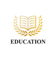 book icon logotype education concept vector image