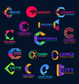 c modern geometric trendy corporate identity icons vector image vector image