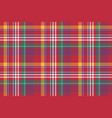 check colored plaid madras seamless background vector image vector image