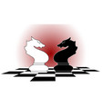 chess horses vector image vector image