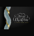 christmas and new year realistic greeting card vector image vector image