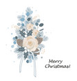 christmas bouquet arranged with eucalyptus roses vector image