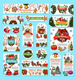 christmas holidays wishes greeting cards vector image vector image