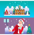 Christmas Town Flat Isometric vector image vector image