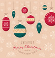 christmas tree toys and greeting text vector image