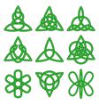 Collection of Celtic knots vector image vector image