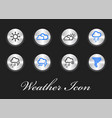 collection of weather icons user interface and vector image vector image