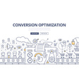 Conversion Optimization Doodle Concept vector image vector image