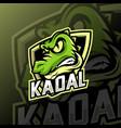 crocodile mascot logo esport vector image vector image