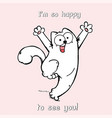 cute cartoon cat with open arms vector image