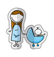 cute little family character icon vector image