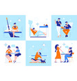 daily routine concept vector image