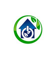 eco home energy vector image