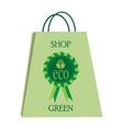 eco shopping bag vector image vector image