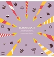 Eight candles for eight days of Jewish holiday vector image vector image