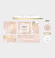 elegant social media trendy chic gold pink blush vector image