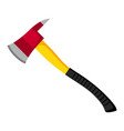 fire ax firefighting item vector image