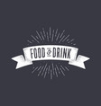 flag food and drink old school flag banner with vector image vector image