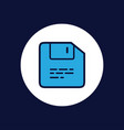 floppy disk icon sign symbol vector image vector image