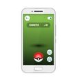 Game app screen pokemon smartphone vector image vector image