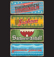 germany thuringen sachsen and schleswig tin signs vector image vector image