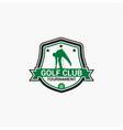 golf club badge logo-8 vector image vector image