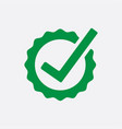 green check list button icon check mark in round vector image