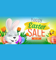 happy easter sale web banner or flier template vector image