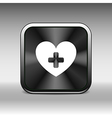 Heart beat rate icon fitness and exercises concept vector image