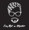 hipster hair and beard vintage design poster vector image vector image